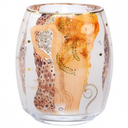 "Photophore ""Les Serpents d'eau"" en verre - Klimt"