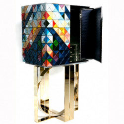 "Cabinet Pixel multicolore - Collection ""Limited Edition"" (80x60xH.163cm)"