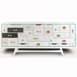 "Buffet MONDRIAN - Collection ""Limited Edition"" (186x53xH.81cm)"