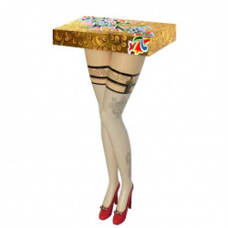 "Table console ""Lady´s Legs"" - Tom's Drag (Ø42cm-Haut.90cm)"
