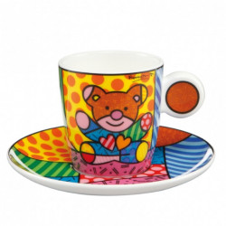 "Tasse expresso ""Truly Yours"" en porcelaine - Romero Britto"