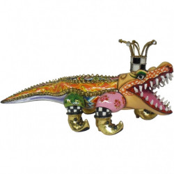 "Statuette Alligator ""Francesco"" en résine - Tom's Drag (long.45cm)"