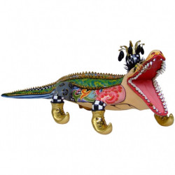 "Sculpture Alligator ""Francesco"" XL - Tom's Drag (long.110cm)"